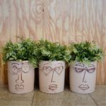 funny face vases