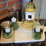 small glass votives