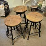 wood & metal stools 2