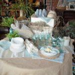 beach table display - close up