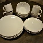 gray dishes