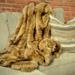 brown fur throw