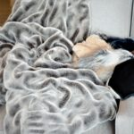 gray mink throw