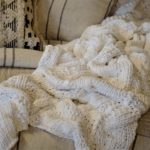 white knit coverlet