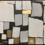 Grey and Gold Squares Painting