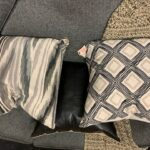 Grey couch pillows