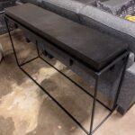 Black Rect Sofa Table