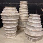 White Wooden Vases
