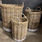 Natural Whte Baskets